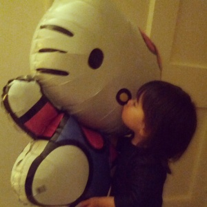 Big 2 and big kiss to Hello Kitty!