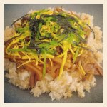 Japanese gomoku-gohan (mixed vegetables w/rice)
