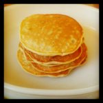 mini banana pancake stack